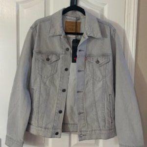 Levi's light gray jean jacket